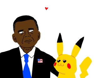 obama x pikachu