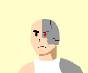 A very angry cybernetic human
