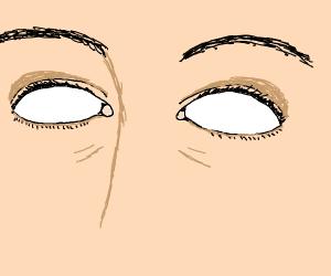 Empty white eyes