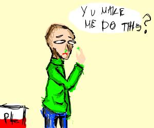 Baldi picking his nose
