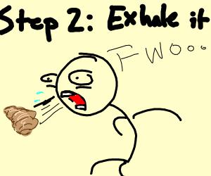 Step 1: inhale croissant