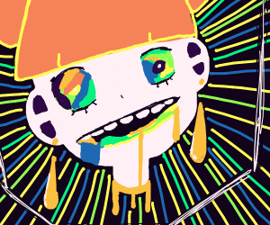 Girl on a acid trip