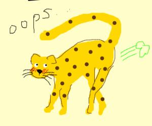 Farting leopard.
