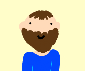 a brown beard on a man's face