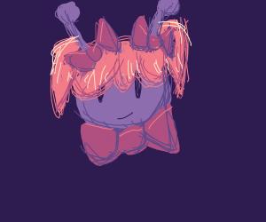 Alien wearing a cute wig