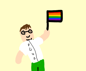 Peter Griffin celebrates pride