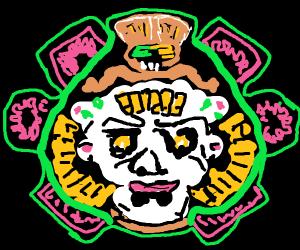 Ram-horned clown-skull-type thing