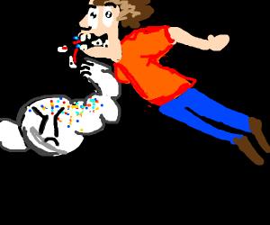 Jawbreaker breaking jaw