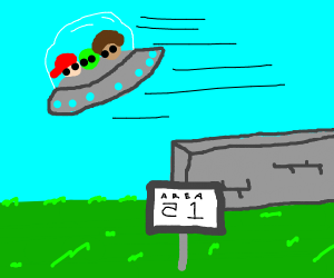 me and the boys stealing a ufo from area 51