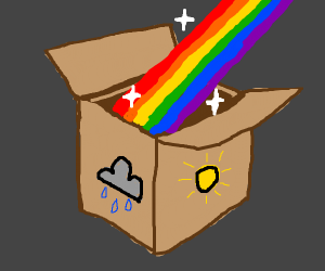 Boxed rainbows!