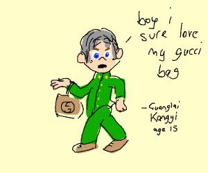 guanglai kangyi loves his gucci bag