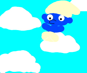 Smurf in the Clouds