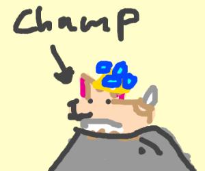 """champ"" Korgi with purple tongue"