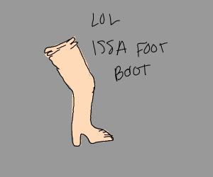 Boot with weird design