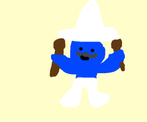 Mexican Smurf Inebrieates Himself