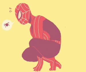spiderman using his spider sense