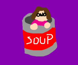 OwO woman in a soup can