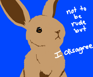 Bunny respectfully disagrees