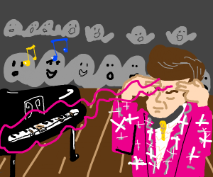 Liberace plays the piano - with his mind!
