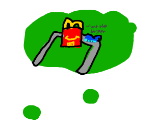 dreaming of a whale at McDonalds