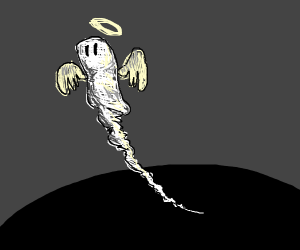 ghost/angel flying up