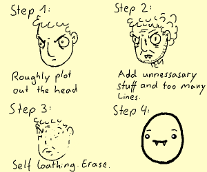 how to sketch characters pio