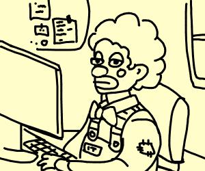 Clown IT technician