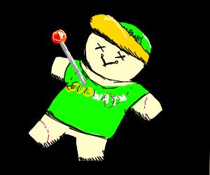Voodoo Doll of subway worker