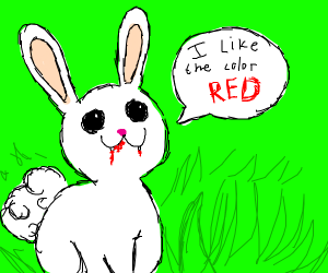 Bunny's favorite color is red