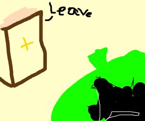 The Bible tells Shrek to leave
