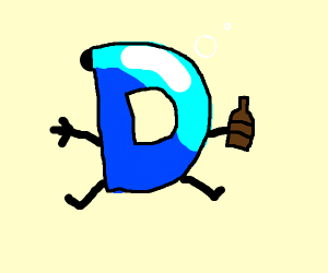 The Drawception D is acting drunk