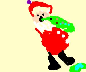santa throwing up