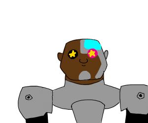 Starry-eyed cyborg