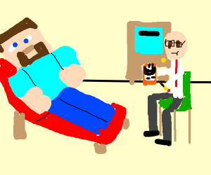 Minecraft Steve gets Therapy