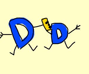 Drawception D drawing a Drawception D