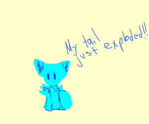 Blue Creature's Tail Explodes