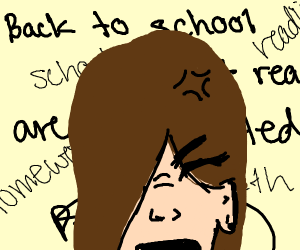 depressed because school is starting ;v;