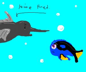 Swordfish firing Dory