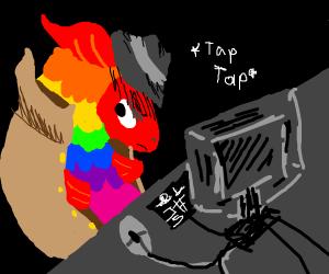 Hacker rainbow fish