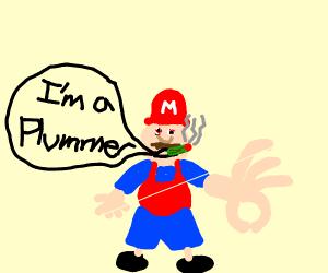 Mario says he's a Plummer