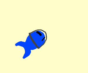 A fish going to Saturn