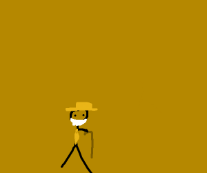 Fancy old gentleman with gold hat