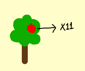 Eleven Apples in a Tree