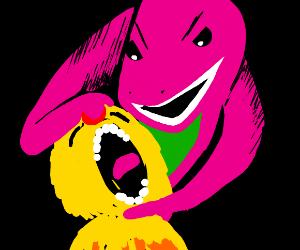 Barney gets revenge and kills Yellmo