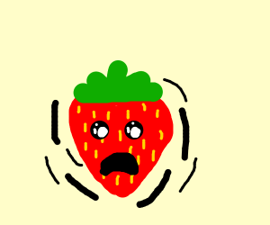 Anxious strawberry