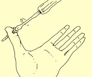 a thumb getting screwed