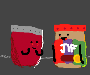 Peanut butter loves Jam