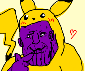 Thanos in a Pikachu costume