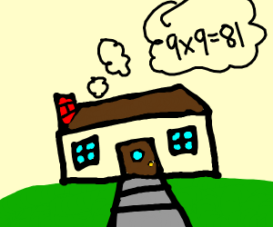 House doing math