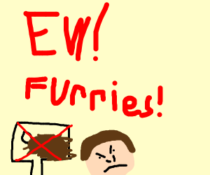 man doesn't like furries